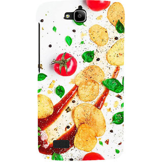 Ifasho Designer Back Case Cover For Huawei Honor Holly (Cake Tomatoes Sauce Changchun China Jamnagar)