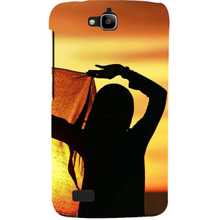 Ifasho Designer Back Case Cover For Huawei Honor Holly (Girl Budapest Hungary Girl Virgin)