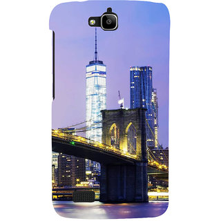 Ifasho Designer Back Case Cover For Huawei Honor Holly (Cities Toronto Canada Madurai)
