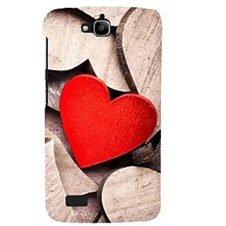 Ifasho Designer Back Case Cover For Huawei Honor Holly (Love Love Cushions Couple Rings For Love In Silver Love More)