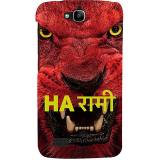 Ifasho Designer Back Case Cover For Huawei Honor Holly (Scary Face Lion Dog Teeth Tiger )