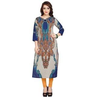 Ziyaa Multicolor Printed Cotton Straight Kurti