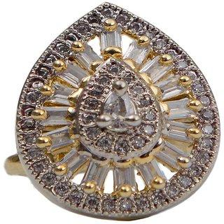 Taj Pearl Designer American Diamonds Adjustable Rings