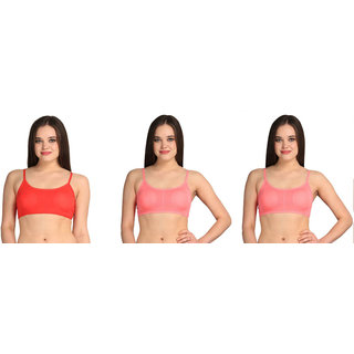 Bahucharaji Creation Pink Cotton Lycra Sports Bras