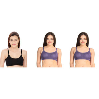 Bahucharaji Creation Purple Cotton Lycra Sports Bras