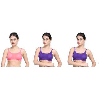 Bahucharaji Creation Purple Cotton Lycra Sports Bras