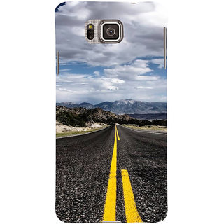 Ifasho Designer Back Case Cover For Samsung Galaxy Alpha :: Samsung Galaxy Alpha S801 ::  Samsung Galaxy Alpha G850F G850T G850M G850Fq G850Y G850A G850W G8508S :: Samsung Galaxy Alfa (Road Scenary Cairo Egypt Bhopal)