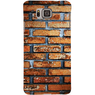 Ifasho Designer Back Case Cover For Samsung Galaxy Alpha :: Samsung Galaxy Alpha S801 ::  Samsung Galaxy Alpha G850F G850T G850M G850Fq G850Y G850A G850W G8508S :: Samsung Galaxy Alfa (Old Age Classic Style Bricks Pattern Stone)