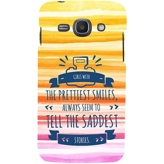 Ifasho Designer Back Case Cover For Samsung Galaxy Ace 3 :: Samsung Galaxy Ace 3 S7272 Duos  :: Samsung Galaxy Ace 3 3G S7270 :: Samsung Galaxy Ace 3 Lte S7275 (Dear One Smile Stories Beauty)