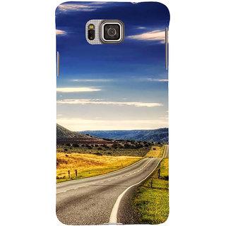 Ifasho Designer Back Case Cover For Samsung Galaxy Alpha :: Samsung Galaxy Alpha S801 ::  Samsung Galaxy Alpha G850F G850T G850M G850Fq G850Y G850A G850W G8508S :: Samsung Galaxy Alfa (Road Scenary Lima Peru Rajkot)