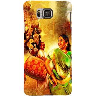 Ifasho Designer Back Case Cover For Samsung Galaxy Alpha :: Samsung Galaxy Alpha S801 ::  Samsung Galaxy Alpha G850F G850T G850M G850Fq G850Y G850A G850W G8508S :: Samsung Galaxy Alfa (Durga Puja Pandal Spiritual Wall Hanging Indonesia Kolkata)