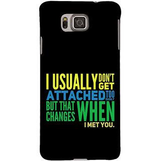 Ifasho Designer Back Case Cover For Samsung Galaxy Alpha :: Samsung Galaxy Alpha S801 ::  Samsung Galaxy Alpha G850F G850T G850M G850Fq G850Y G850A G850W G8508S :: Samsung Galaxy Alfa (Resemblance  Dating Black)