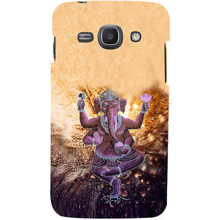 Ifasho Designer Back Case Cover For Samsung Galaxy Ace 3 :: Samsung Galaxy Ace 3 S7272 Duos  :: Samsung Galaxy Ace 3 3G S7270 :: Samsung Galaxy Ace 3 Lte S7275 (Ganesh Santiago Spiritual Tshirt For Men Rajampet)