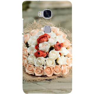Ifasho Designer Back Case Cover For Huawei Honor 5X :: Huawei Honor X5 :: Huawei Honor GR5 (Nag Kesar Inhibit  Rose Necklace Increase Bloom Flourish Multiply)