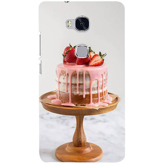Ifasho Designer Back Case Cover For Huawei Honor 5X :: Huawei Honor X5 :: Huawei Honor GR5 (Cake Tianjin China Bharuch)