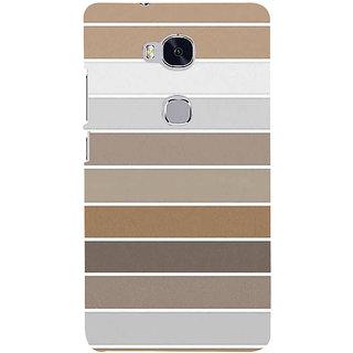 Ifasho Designer Back Case Cover For Huawei Honor 5X :: Huawei Honor X5 :: Huawei Honor GR5 (Puzzle Different Color Lines Cloth Design)