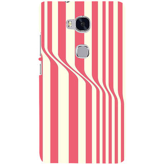 Ifasho Designer Back Case Cover For Huawei Honor 5X :: Huawei Honor X5 :: Huawei Honor GR5 (Illusion Red White Red And White)