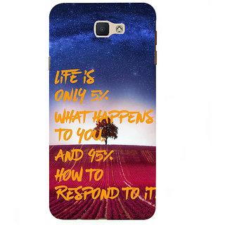 Ifasho Designer Back Case Cover For Samsung Galaxy On5 Pro (2015) :: Samsung Galaxy On 5 Pro (2015) (Life Is What Incident Appear Chance)