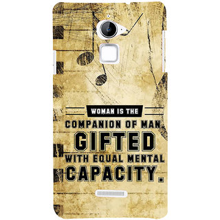 IFasho Designer Back Case Cover For Coolpad Note 3 Lite :: Coolpad Note 3 Lite Dual SIM (Music Symbol Dauther Nice Quote Gift )