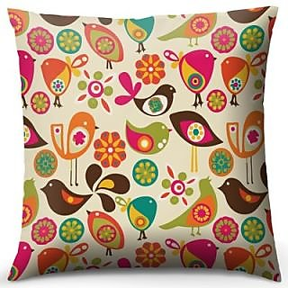Colorful Bird Cushion