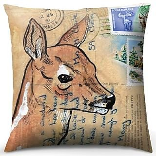 Deer Postcard Cushion