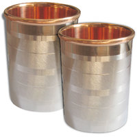 Copper Glass Ayurveda Healing  Tumbler, Set Of 2 Glasses