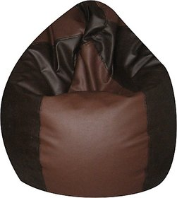 ZOLO XXXL - BEAN BAGS - SUPERIOR QUALITY - BLACK-BROWN Without beans (Cover Only)