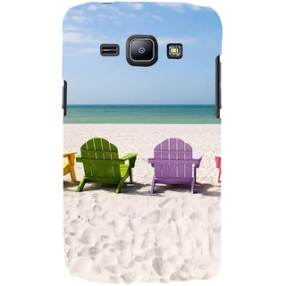 Ifasho Designer Back Case Cover For Samsung Galaxy J2 J200G (2015) :: Samsung Galaxy J2 Duos (2015) :: Samsung Galaxy J2 J200F J200Y J200H J200Gu  (Beach Flip Flops For Women Beach Hat Scenary Posters Beach Inner Sea Shells)