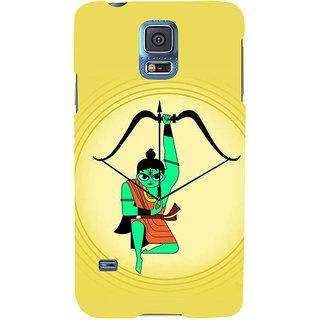 Ifasho Designer Back Case Cover For Samsung Galaxy S5 Neo :: Samsung Galaxy S5 Neo G903F :: Samsung Galaxy S5 Neo G903W (Lakshya Veda Dhanush Arrow Bow Draupadi )