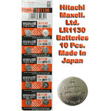 LR1130 Maxell Battery 10 Pieces. 1.5V Micro Lithium Button Coin Cell Made In Japan