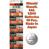 LR44 Maxell Battery 10 Pieces. 3V Micro Lithium Button Coin Cell Made In Japan