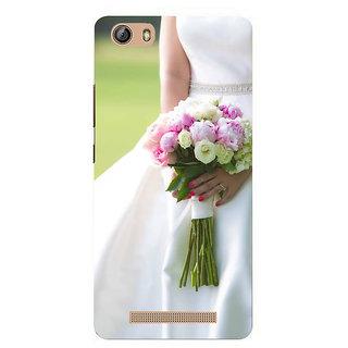 IFasho Designer Back Case Cover For Gionee Marathon M5 Lite (Brahma Kamal Jovial  Rose Nozzle Tip Nonpareil Elite Cream Inexpedience)