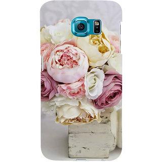 Ifasho Designer Back Case Cover For Samsung Galaxy S6 Edge :: Samsung Galaxy S6 Edge G925 :: Samsung Galaxy S6 Edge G925I G9250  G925A G925F G925Fq G925K G925L  G925S G925T (Nelumbo Nucifera Rosehip Oil Rose Petals Vine Bloom Slip Bush)