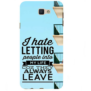 Ifasho Designer Back Case Cover For Samsung Galaxy On7 Pro :: Samsung Galaxy On 7 Pro (2015) (Sanction Someone Letting Lets )