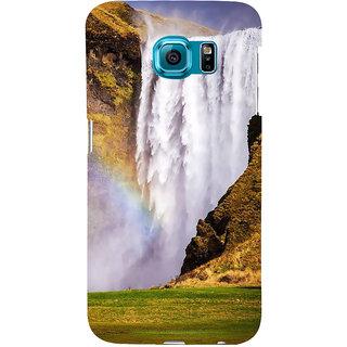 Ifasho Designer Back Case Cover For Samsung Galaxy S6 Edge :: Samsung Galaxy S6 Edge G925 :: Samsung Galaxy S6 Edge G925I G9250  G925A G925F G925Fq G925K G925L  G925S G925T (River Rocking Peaceful Shanti Scenary)