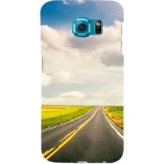 Ifasho Designer Back Case Cover For Samsung Galaxy S6 Edge :: Samsung Galaxy S6 Edge G925 :: Samsung Galaxy S6 Edge G925I G9250  G925A G925F G925Fq G925K G925L  G925S G925T (Road Scenary Delhi India Patna)