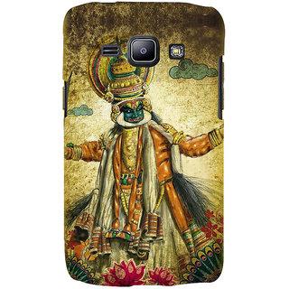 Ifasho Designer Back Case Cover For Samsung Galaxy J2 J200G (2015) :: Samsung Galaxy J2 Duos (2015) :: Samsung Galaxy J2 J200F J200Y J200H J200Gu  (Festivals Kerala Mask Lotus Kathakali Clip Art)
