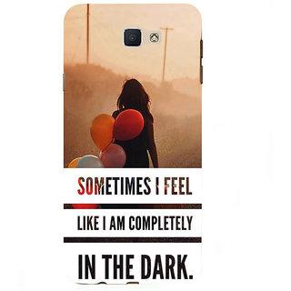 Ifasho Designer Back Case Cover For Samsung Galaxy On7 Pro :: Samsung Galaxy On 7 Pro (2015) (Pink Delhi Pollution In The Dark)