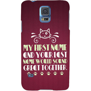 Ifasho Designer Back Case Cover For Samsung Galaxy S5 Neo :: Samsung Galaxy S5 Neo G903F :: Samsung Galaxy S5 Neo G903W (Relativity  Free Education)