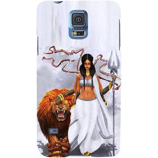 Ifasho Designer Back Case Cover For Samsung Galaxy S5 Neo :: Samsung Galaxy S5 Neo G903F :: Samsung Galaxy S5 Neo G903W (Durga Spiritual Wallpaper For Walls Brazil Kolkata)