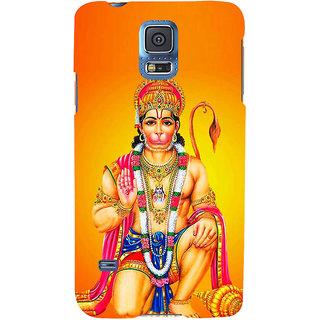 Ifasho Designer Back Case Cover For Samsung Galaxy S5 Neo :: Samsung Galaxy S5 Neo G903F :: Samsung Galaxy S5 Neo G903W (Hanuman Hanuman Photo Frame Hanuman Original Silver Locket Hanuman Neck Chain)
