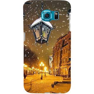 Ifasho Designer Back Case Cover For Samsung Galaxy S6 Edge :: Samsung Galaxy S6 Edge G925 :: Samsung Galaxy S6 Edge G925I G9250  G925A G925F G925Fq G925K G925L  G925S G925T (Cold Night Street Market Simla)