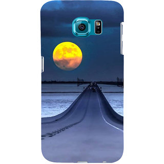 Ifasho Designer Back Case Cover For Samsung Galaxy S6 Edge :: Samsung Galaxy S6 Edge G925 :: Samsung Galaxy S6 Edge G925I G9250  G925A G925F G925Fq G925K G925L  G925S G925T (Road Scenary Moon London Uk Indore)