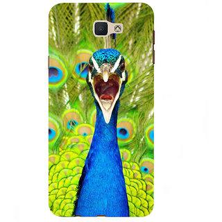 Ifasho Designer Back Case Cover For Samsung Galaxy On7 G600Fy :: Samsung Galaxy Wide G600S :: Samsung Galaxy On 7 (2015) (Angry Peacock Navil Nilkantha Natural)