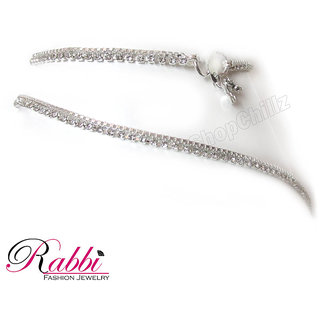 SP White Stone Anklet Payal AN08SWS