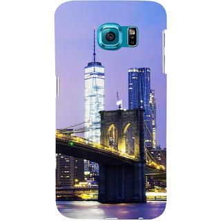 Ifasho Designer Back Case Cover For Samsung Galaxy S6 Edge :: Samsung Galaxy S6 Edge G925 :: Samsung Galaxy S6 Edge G925I G9250  G925A G925F G925Fq G925K G925L  G925S G925T (Cities Toronto Canada Madurai)