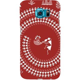 Ifasho Designer Back Case Cover For Samsung Galaxy S6 Edge :: Samsung Galaxy S6 Edge G925 :: Samsung Galaxy S6 Edge G925I G9250  G925A G925F G925Fq G925K G925L  G925S G925T (Tribal Madrid Spain Shillong)