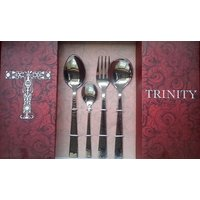 Hammered 24 Pcs Cutlery Set With Soup Spoon