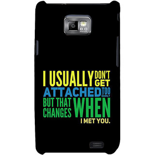 Ifasho Designer Back Case Cover For Samsung Galaxy S2 I9100 :: Samsung I9100 Galaxy S Ii (Resemblance  Dating Black)