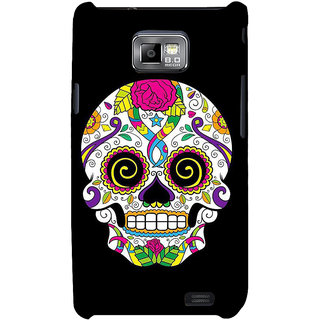 Ifasho Designer Back Case Cover For Samsung Galaxy S2 I9100 :: Samsung I9100 Galaxy S Ii (Skeleton Cirebon Scary Tales Scary Rubber Masks)